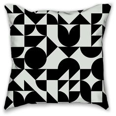 Seventy Throw Pillow (£22) ❤ liked on Polyvore featuring home, home decor, throw pillows, 1970s home decor, polyester throw pillows, black accent pillows, black throw pillows and multi colored throw pillows