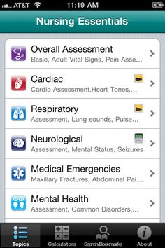 Nursing Essentials iPhone and iPad app by Informed Publishing.
