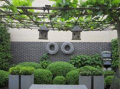 Green and concrete (minus the birdhouses)