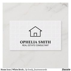 Home Icon | White Brick Tiles Business Card