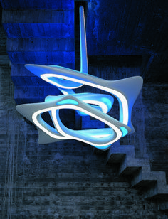 Impressive Visual Effects Of The Vortex Chandelier [Zaha Hadid: http://futuristicnews.com/tag/zaha-hadid/ Futuristic Lamps: http://futuristicshop.com/category/futuristic-lamp-2/]
