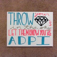 Alpha Delta Pi Throw Your Diamonds in the SkyCanvas