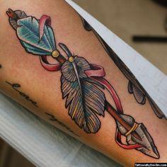 Resultado de imagem para arrow tattoo old school