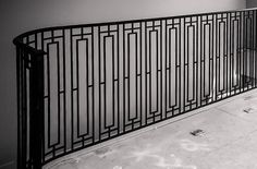 Custom wrought iron balcony railing. More