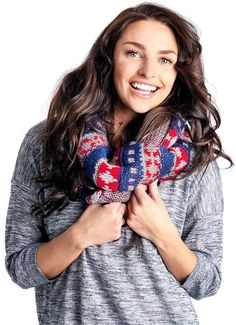 Please click on the picture to go to the detail page.   MUK LUKS Women's Fairisle Infinity Scarf