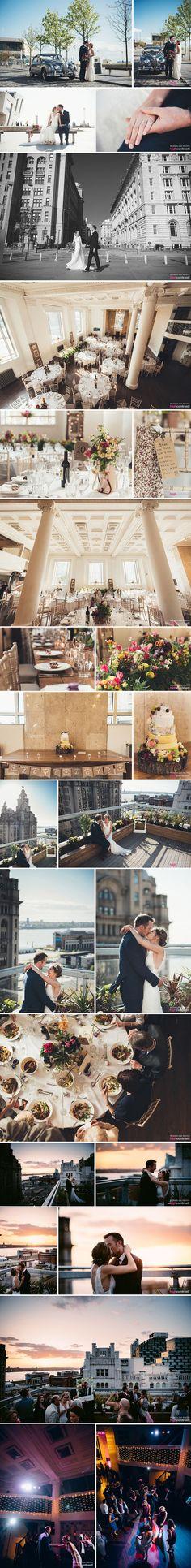 Oh me oh my Wedding, West Africa House, Liverpool - Wedding Day Photos  #Liverpool #WestAfricaHouse #Wedding #couple #married #sunshine #flowers #Wedding #rooftop #cheesecake #weddingcake #cake #sunset #bank #WDP #venue #WeddingVenue #inspiration #Ideas #bridal #bride #groom #rings #TableSetting