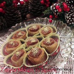 Μελομακάρονα με φύλλο | Cookbook Recipes, Cooking Recipes, Greek Cookies, Greek Sweets, Sweet Little Things, Christmas Cooking, Greek Recipes, Sweet Desserts, Cheesecake