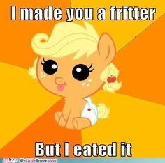 More apple frittah?  Apple Jack - My Little Pony: Friendship is Magic