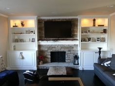 fireplace surrounds tv above | Fireplace Surround traditional living room