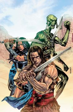 A cover I colored for Marvel/Disney's John Carter: World of Mars mini-series. Lots of different versions and corrections on this one but I'm happy with . John Carter: World of Mars 4 Final A Princess Of Mars, Sea Of Stars, Savage Worlds, Sword And Sorcery, Sci Fi Books, Disney Films, Fantastic Art, Sci Fi Art, Monsters