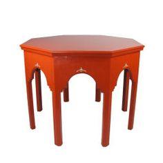 German Art Deco Orange Lacquer Table