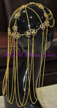 Back/side view chain maille headpiece