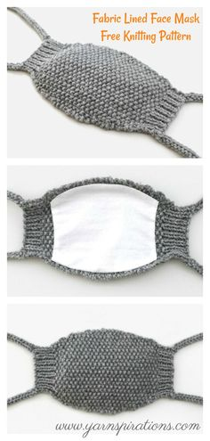 Fabric Lined Face Mask Free Knitting Pattern Below are several simple and easy Face Mask Free Knitting Pattern to DIY Face Masks. These face masks only use basic materials, and they are easy to make. Easy Face Masks, Diy Face Mask, Crochet Pattern, Free Pattern, Knit Crochet, Easy Knitting Projects, Knitting Ideas, Woven Wrap, Garter Stitch