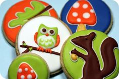Forest Critters Sugar Cookies