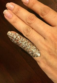 Small shield filigree ring, pinky ring,silver color sizable by pickapicka on Etsy https://www.etsy.com/listing/209924808/small-shield-filigree-ring-pinky