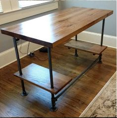 Custom Desk made from reclaimed wood bar top any finish – Office Wood Desk
