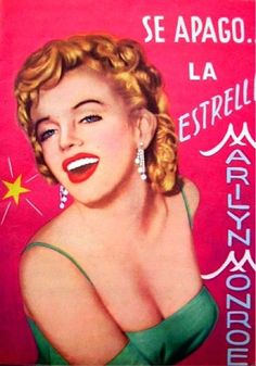 Se Apago La Estrella - 1962, magazine from Argentina. Tribute issue. Front cover photo/illustration of Marilyn Monroe as she appeared at a press conference to announce the formation of Marilyn Monroe Productions, January 7th 1955.