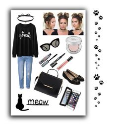 Sexy Kitten 🐾 by jb88 on Polyvore featuring polyvore, moda, style, WithChic, Charlotte Olympia, Ted Baker, Joomi Lim, Victoria Beckham, Urban Decay, Benefit, MAC Cosmetics, fashion and clothing