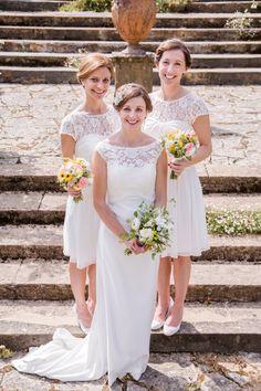 Bride and bridesmaids | Catherine & Tristan at Mapperton. Photo credit David Craik Photography
