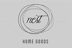 Simple Nest / Home Good Logo  @creativework247
