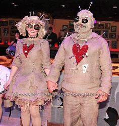 Voodoo Doll Couple Costume... Coolest Halloween Costume Contest