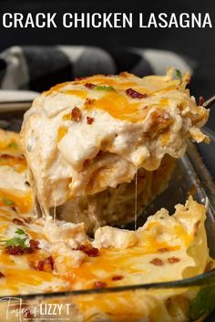 Your family will come running for this easy casserole with ranch seasoning, bacon and rotisserie chicken. Do you love chicken, bacon and ranch? Lasagna Recipe Without Ricotta, Vegetarian Lasagna Recipe, Easy Lasagna Recipe, Easy Casserole Recipes, Lasagna Recipes, Lasagna With Cream Cheese, Lasagna Food, Dinner Recipes, White Chicken Lasagna