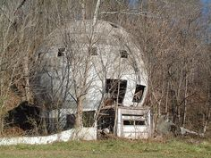Abandoned geo-dome house in West Logan, OH.