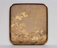Writing box (suzuribako) with chrysanthemum and tanzaku maki-e decoration   Museum of Fine Arts, Boston