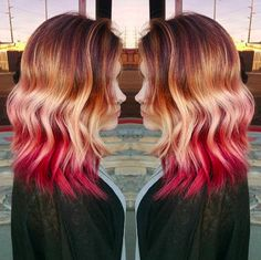 Because DAMNNNNNN this is beautiful. | Sunset Hair Is Here And It's Drop-Dead Beautiful