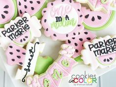 a closer look at these, because there's nothing sweeter!🍉 Watermelon Cookies, My Sister In Law, Closer, Photo And Video, Sweet, Desserts, Instagram, Food, Deserts