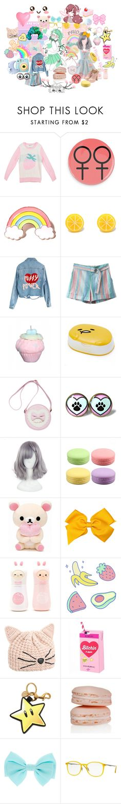 """""""Pansexual pride"""" by disney-loves-mel ❤ liked on Polyvore featuring Local Heroes, Polaroid, High Heels Suicide, TONYMOLY, Karl Lagerfeld, Moschino, Opal London, Ray-Ban and Orelia"""