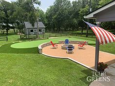 Outdoor Putting Green, Golf Room, Golf Green, Back Patio, Diy For Kids, Grass, Improve Yourself, Home Improvement, Tours