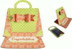 Silhouette Design Store - View Design #71365: easel gift card holder (purse)