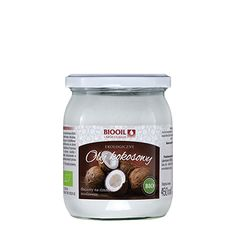 Tłoczony na zimno ekologiczny olej kokosowy - piękny zapach i posmak kokosa. Doskonały do smażenia, pieczenia, koktajli oraz do zastosowania kosmetycznego. Drinks, Bottle, Food, Drinking, Beverages, Flask, Essen, Drink, Meals