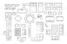 Furniture Templates for Floor Plans Awesome Interior Design Floor Plan Symbols top View Furniture Cad Interior Design Vector, Interior Design Styles Quiz, Interior Design Sketches, Architecture Symbols, Interior Architecture Drawing, Drawing Interior, House Architecture, Cad Symbol, Floor Plan Symbols