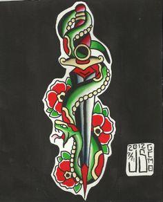 Tattoo Flash by Jeremy Smith True Tattoo, Tatoo Designs, Traditional Flash, Tattoo Flash Art, Snake Tattoo, Body Modifications, Tattoo Drawings, Tattoo Inspiration, New Art