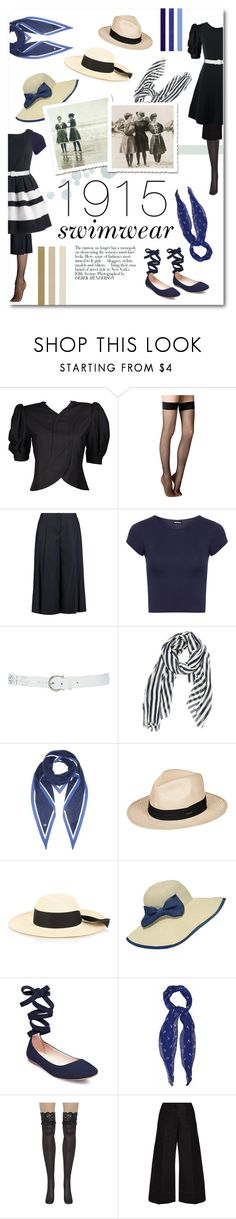 """""""By the Pool: 1915 Style"""" by singingintherain-788 ❤ liked on Polyvore featuring Fogal, MICHAEL Michael Kors, WearAll, M&Co, Gucci, Loro Piana, Roxy, G.Viteri, WithChic and Steve Madden"""