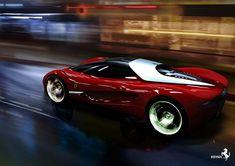 Ferrari Xezri Concept - Ferrari Xezri is a concept car of Samir Sadikhov, he won prize at the Ferrari World Design Contest in the design of the car was based on the Ferrari 458 Italia. Ferrari F80, Ferrari Logo, Lamborghini, Ferrari World, Ferrari California, Chrysler 300, Unique Cars, Car Humor, Cars Motorcycles
