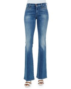 The Marrakech Faded Flared Jeans, Size: 25, Blue - MiH