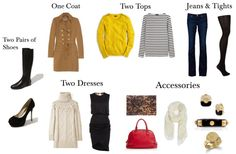 Three ways: Packing list for 3 days. You can actually get more than three days plus a dinner outfit if you get creative.