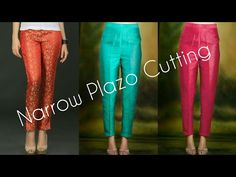 Narrow Plazo Pant Cutting Part 1 - YouTube