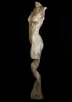Wood sculpture Figurative,Theya,Female nude, Fine art Sculpture, by Chad Awalt-Fine Art and Sculpture in wood