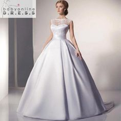 Robe De Mariage Cheap Ball Gown Wedding Dress Under 100 A Line Scoop Bridal  Dresses Lace 3183fc16346