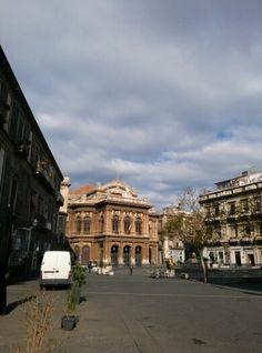 Piazza teatro Massimo Bellini - Catania (Italy)