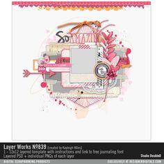 Layer Works No. 839 Layered Scrapbook page layout for easy digital scrapbooking #designerdigitals