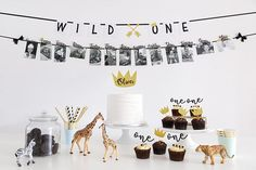 Wild ONE First Birthday Party Decorations Pack Cake topper Cupcake toppers Straws Wall ba Wild ONE First Birthday Party Decorations Pack Cake topper Cupcake toppers Straw. Boys First Birthday Party Ideas, First Birthday Party Decorations, Wild One Birthday Party, Baby Boy First Birthday, First Birthday Banners, First Birthday Photos, Boy Birthday Parties, Diy Birthday, Birthday Balloons