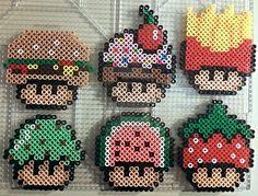 Food Shrooms perler beads by PerlerPixie on deviantART