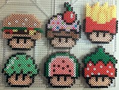 Food Shrooms perler beads by PerlerPixie on deviantART