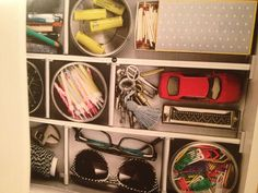 organized junk drawer by ikea. I think I need to make a trip to Ikea soon!