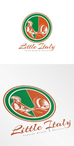 Little Italy Italian Breads Logo by patrimonio on @creativemarket